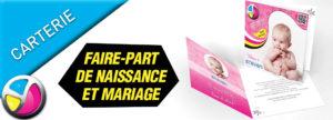 Imprimerie Color 01 : impression faire-part de naissance et faire-part de mariage