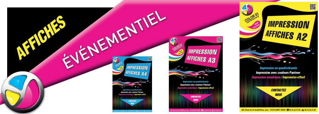 Imprimerie Color 01 : impression affiches A1, affiches A2, affiches A3 et affiches A4