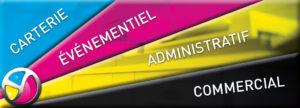 Imprimerie Color 01 : produits imprimés classés Carterie, Événementiel, Administratif ou Commercial