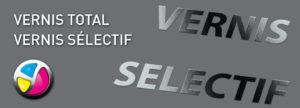 Imprimerie Color 01 : option de finition vernis total ou vernis sélectif