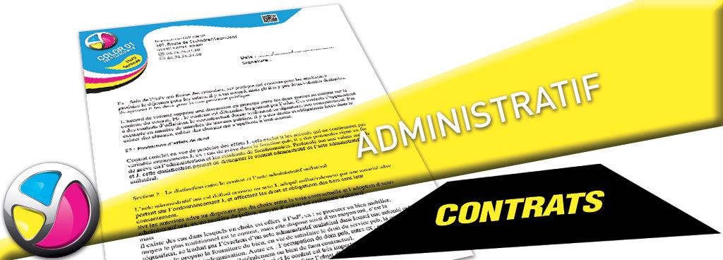 Imprimerie Color 01 : impression de contrats en feuille à feuille ou en liasses