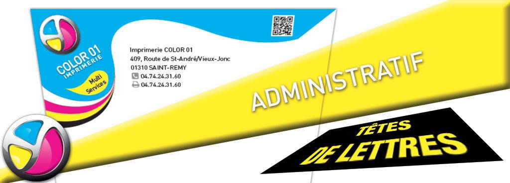 Imprimerie Color 01 : impression de vos têtes de lettres administratives